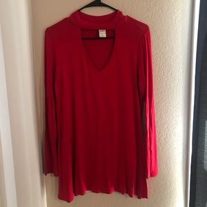 Long Sleeve Red Shirt
